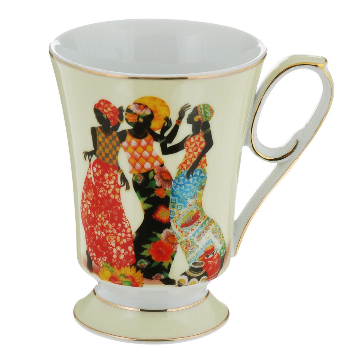 Кружка Lillo Африканские мотивы, 300 млTS 1187Кружка Lillo Африканские мотивы выполнена из высококачественного фарфора и украшена изображением трех девушек в ярких костюмах. На ручке и по краю кружки имеется золотистая кайма. Такая кружка порадует вас дизайном и функциональностью, а пить чай или кофе из нее станет еще приятнее. Остерегайтесь сильных ударов. Не применять абразивные чистящие средства.