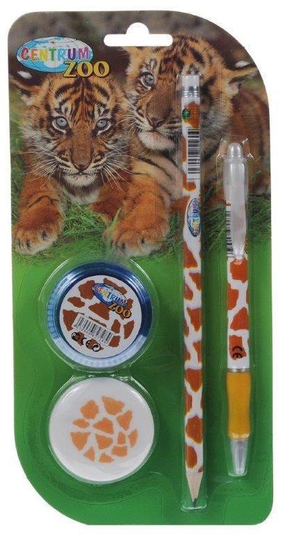 Канцелярский набор Centrum Zoo, 4 предмета82Уважаемые клиенты! Обращаем ваше внимание, что дизайн упаковки товара может отличаться.