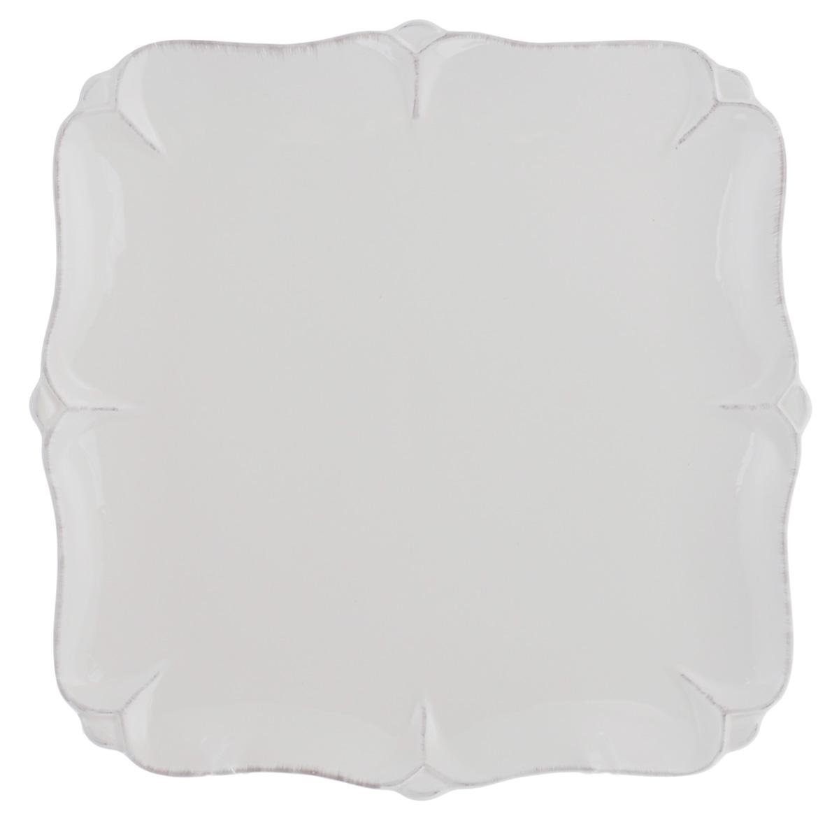 Тарелка Lillo Ideal, цвет: молочный, 25 см х 25 см214207Тарелка Lillo Ideal прекрасно подойдет для сервировки вторых блюд. Изделие изготовлено из керамики и оснащено рельефными неровными краями. Такое оформление придется по вкусу и ценителям классики, и тем, кто предпочитает утонченность и изысканность. Тарелка Lillo Ideal украсит сервировку вашего стола и подчеркнет прекрасный вкус хозяина, а также станет отличным подарком. Можно использовать в посудомоечной машине и микроволновой печи.