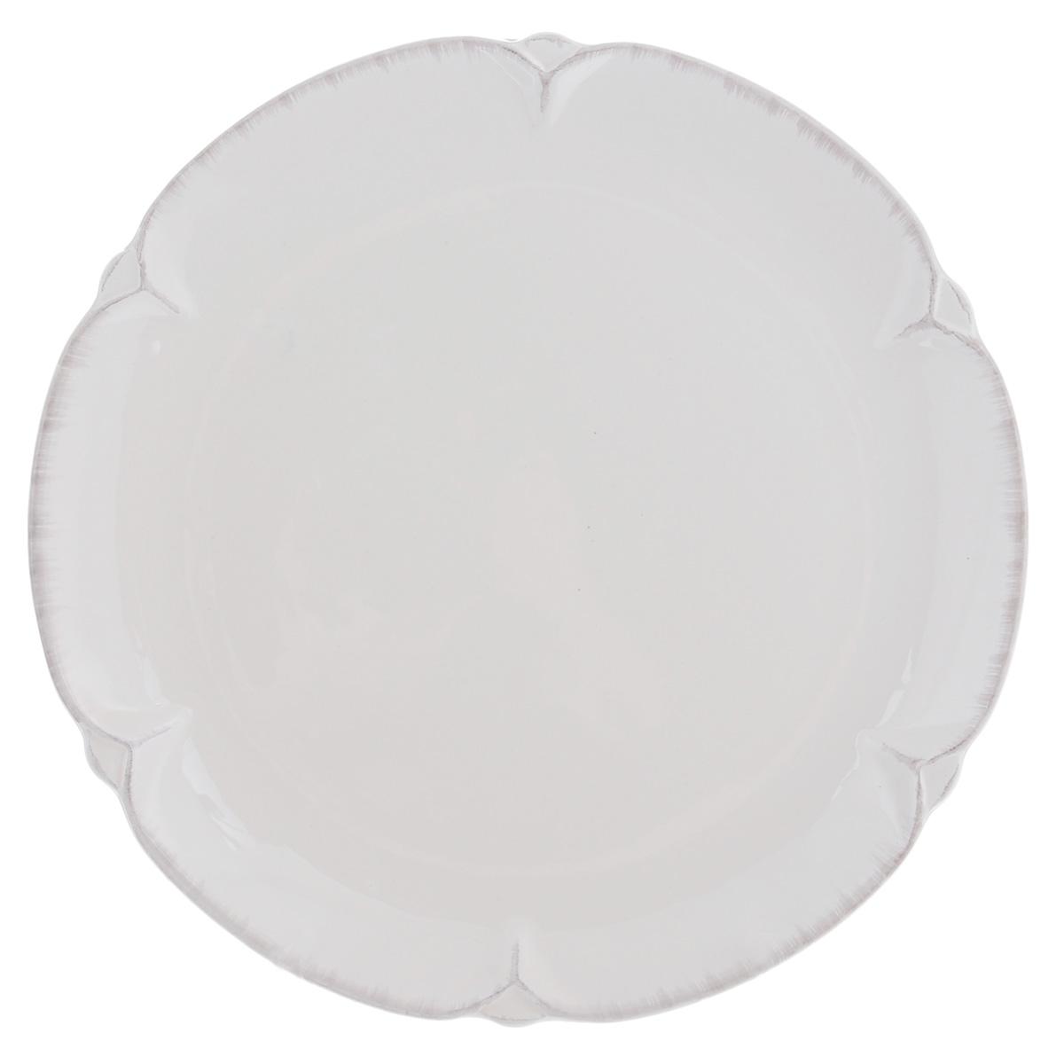 Тарелка Lillo Ideal, цвет: молочный, диаметр 26 см214204Тарелка Lillo Ideal прекрасно подойдет для сервировки вторых блюд. Изделие изготовлено из керамики и оснащено рельефными неровными краями. Такое оформление придется по вкусу и ценителям классики, и тем, кто предпочитает утонченность и изысканность. Тарелка Lillo Ideal украсит сервировку вашего стола и подчеркнет прекрасный вкус хозяина, а также станет отличным подарком. Можно использовать в посудомоечной машине и микроволновой печи.