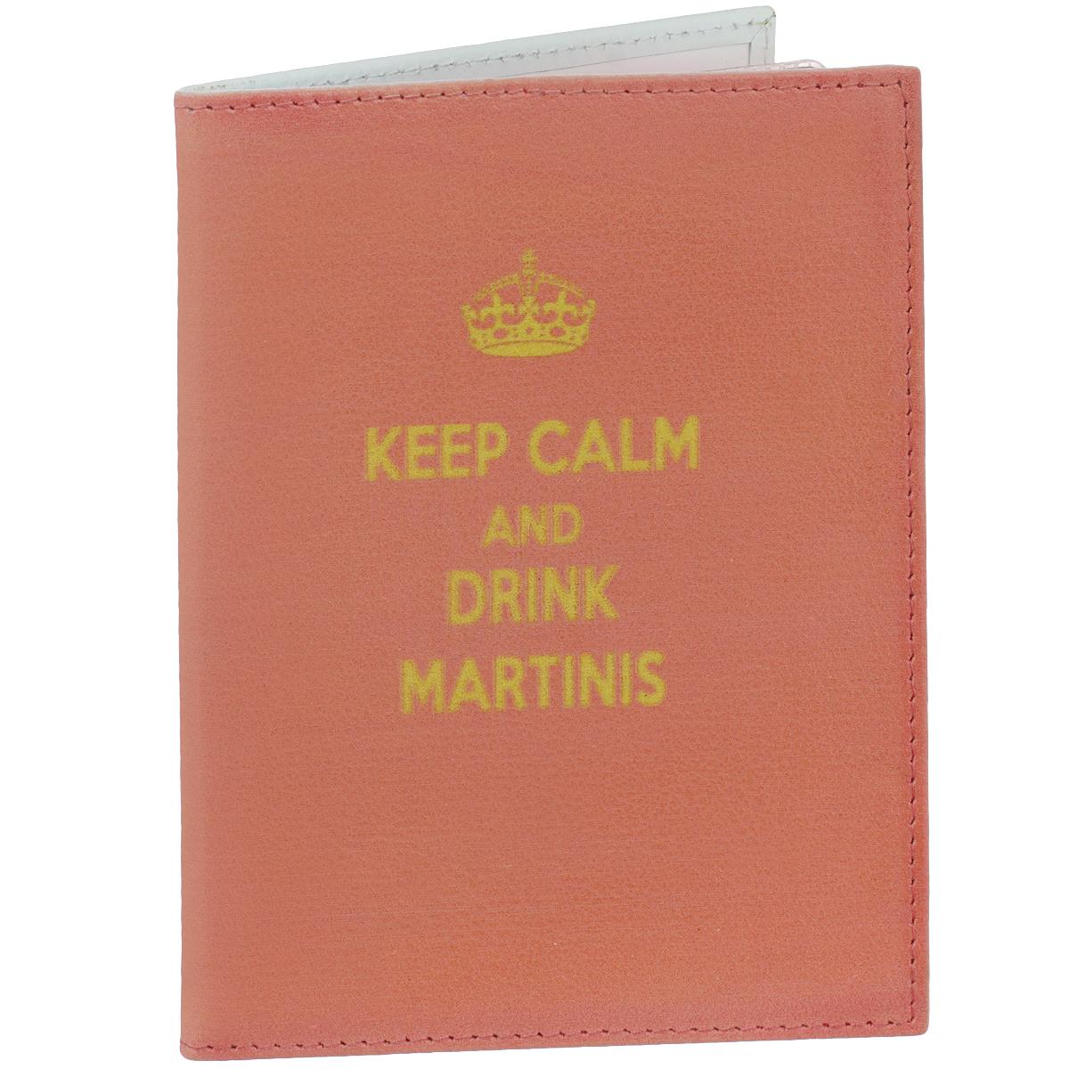 Обложка для автодокументов Perfecto Drink Martinis. VD-PT-39VD-PT-39Обложка для автодокументов Perfecto Drink Martinis, изготовленная из натуральной кожи, оформлена надписью: Keep Calm And Drink Martinis. Внутри содержится несъемный блок из 6 прозрачных пластиковых кармашков разного размера, а также 4 прорезных кармана для пластиковых карт. Обложка не только поможет сохранить внешний вид ваших документов и защитить их от повреждений, но и станет стильным аксессуаром, идеально подходящим вашему образу. Обложка для документов стильного дизайна может быть достойным и оригинальным подарком.
