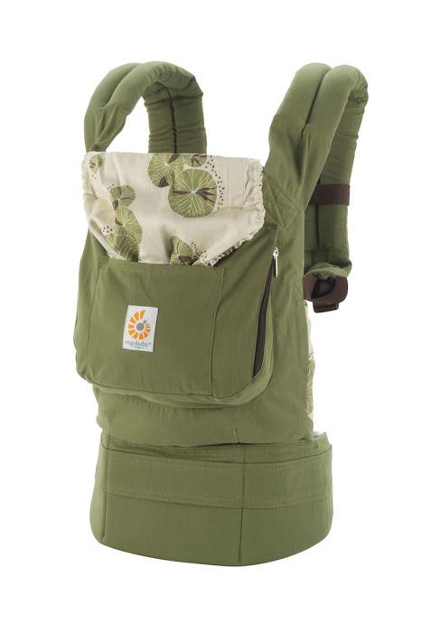 """Рюкзак-переноска ERGO """"Organic. Водяная лилия"""", цвет: светло-зеленый"""