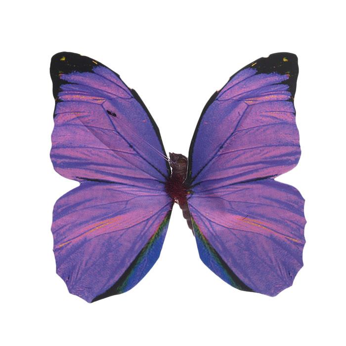 Декоративное украшение Hobby Time Бабочки, цвет: фиолетовый, 10 см х 9,5 см7705480Декоративное украшение Hobby Time Бабочки, изготовленное из текстиля и пластика, предназначено для декорирования. Оно может пригодиться в оформлении одежды, предметов интерьера, подарков, цветочных букетов, а также в скрапбукинге. Изделие выполнено в виде бабочки, декорированной оригинальным узором. С оборотной стороны бабочка оснащена металлической клипсой.