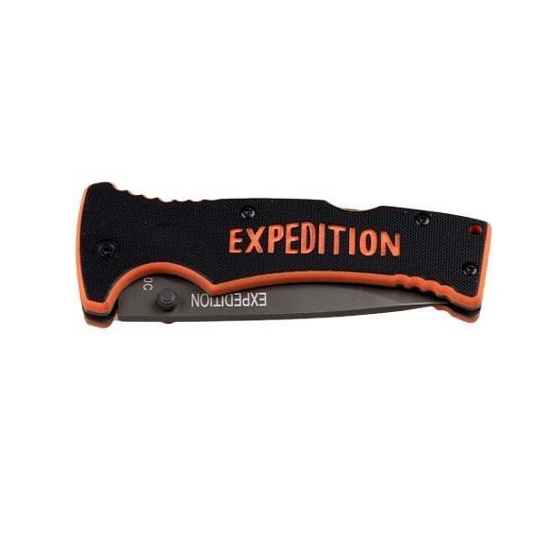 Нож складной Экспедиция Extreme line, с чехломEXT-02Спешите купить складной нож с чехлом Экспедиция Extreme line. Сделанный из нержавеющей стали, этот нож очень удобен в применении. Нейлоновый чехол, который к нему прилагается, очень легкий и прекрасно защитит нож от любых негативных внешних воздействий, что продлит его эксплуатацию на длительное время.