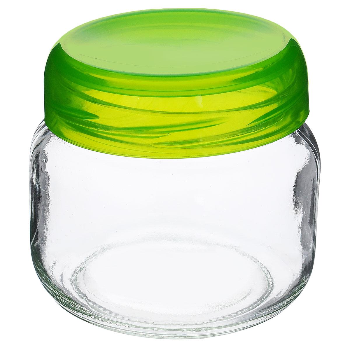 Банка для сыпучих продуктов Renga, цвет: салатовый, 400 мл131750Банка для сыпучих продуктов Renga изготовлена из прочного стекла. Банка оснащена плотно закрывающейся пластиковой крышкой с термоусадкой. Благодаря этому внутри сохраняется герметичность, и продукты дольше остаются свежими. Изделие предназначено для хранения различных сыпучих продуктов: круп, чая, сахара, орехов и т.д. Функциональная и вместительная, такая банка станет незаменимым аксессуаром на любой кухне. Можно мыть в посудомоечной машине.