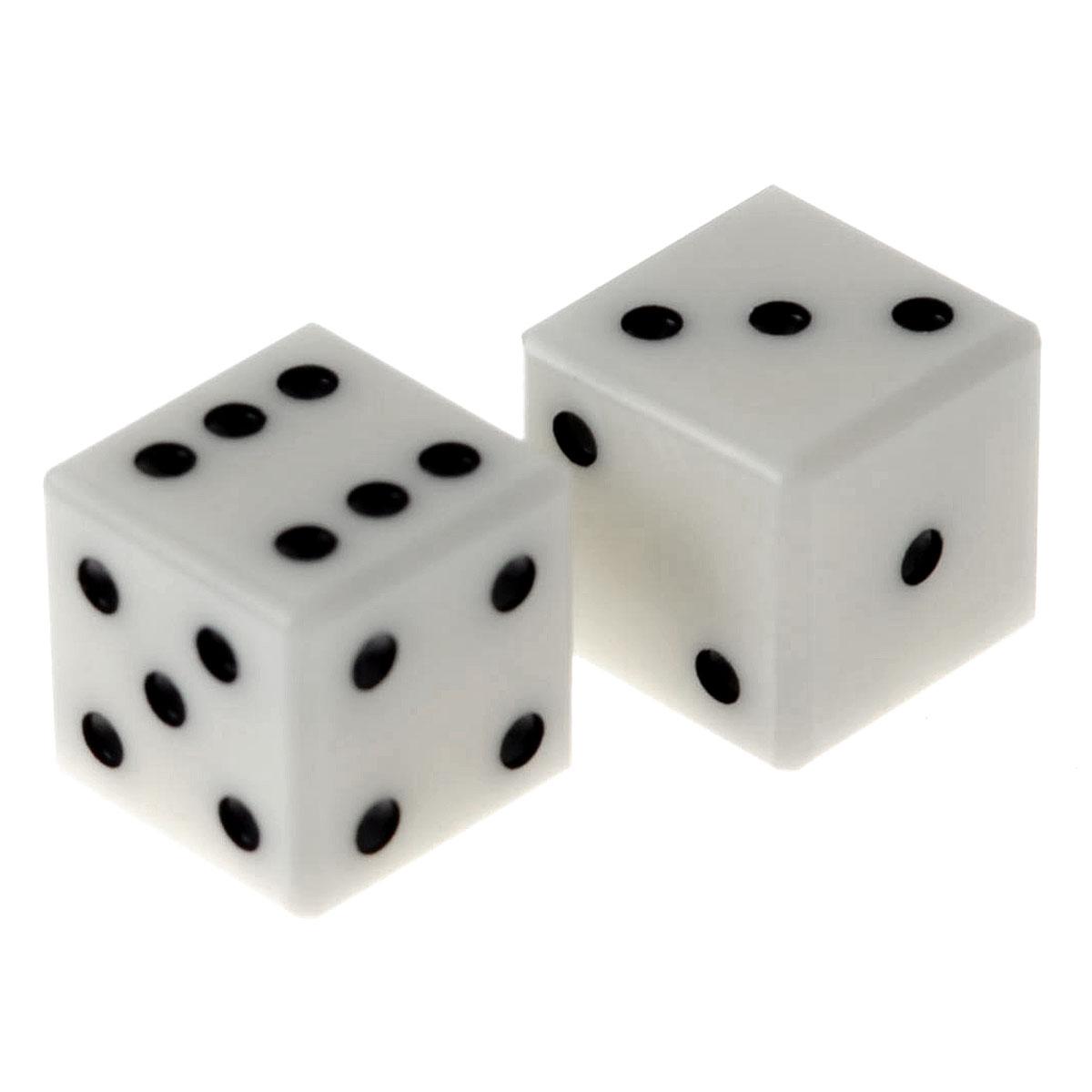 Кости игральные France Cartes, цвет: белый, размер: 0,9 см, 2 шт. К9-2К9-2