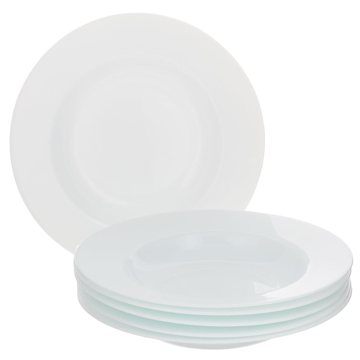 Набор суповых тарелок Bormioli Rocco Orione, цвет: белый, диаметр 24.5 см, 6 шт450170F27321990Набор Bormioli Rocco Orione состоит из 6 суповых тарелок, изготовленных из упрочненного стекла с покрытием белого цвета. Набор Bormioli Rocco Orione ярко оформит сервировку обеденного стола и станет прекрасным дополнением к коллекции вашей посуды.
