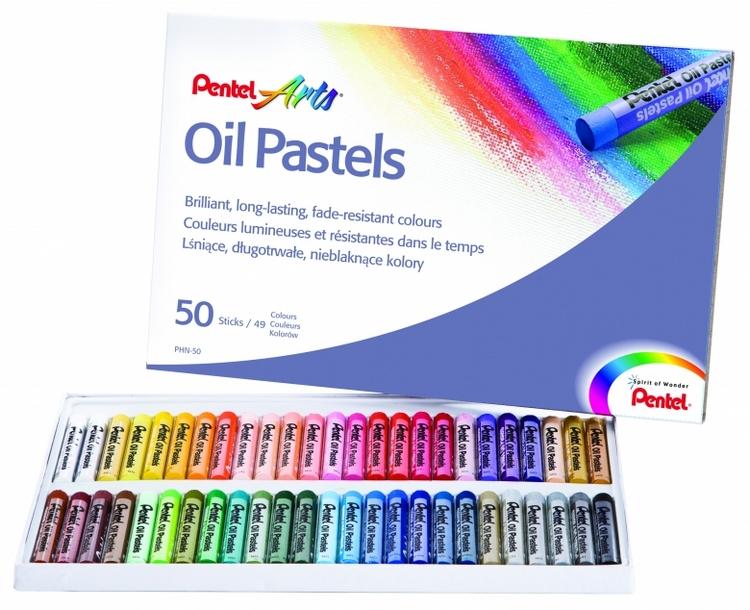 Пастель масляная Pentel Oil Pastels, 50 цветовPHN4-50Пастель масляная Pentel Oil Pastels изготовлена из натуральных компонентов и не содержит вредных примесей. Соответствует европейскому стандарту качества EN71, утвержденному для детских товаров. Пастелью можно рисовать в любой технике (в сочетании с цветными карандашами, красками). При работе пастелью лучше использовать шероховатые поверхности - специальные бумаги, картон, холст. Пастель отличают яркие долговечные цвета, стойкие к воздействию света. Для удобства использования краски имеют форму мелков.