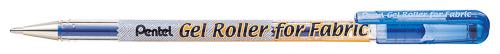 Ручка гелевая Pentel Gel Roller for Fabric маркировочная, цвет: синийBN15-CГелевая перманентная ручка Pentel Gel Roller for Fabric с пигментными чернилами предназначена для маркировок на ткани и нанесения контуров или надписей. Линии ручки четкие, без размазывания. Нанесенное изображение не смывается водой.