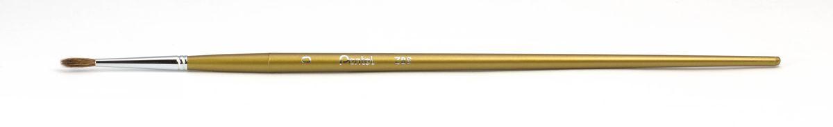 Кисть для рисования Pentel, пони, круглая, размер 0ZBS1-0Кисть для рисования Pentel изготовлена из волоса пони. В отличие от обычных лошадей, волос пони отличается мягкостью, гладкостью, шелковистостью. Волос пони толще волоса белки, поэтому кисти из пони более плотные. Основное применение: акварель, гуашь, клей и косметические средства.