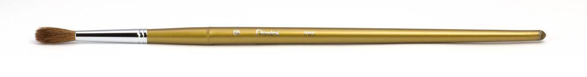 Кисть для рисования Pentel, пони, круглая, размер 6ZBS1-6Кисть для рисования Pentel изготовлена из волоса пони. В отличие от обычных лошадей, волос пони отличается мягкостью, гладкостью, шелковистостью. Волос пони толще волоса белки, поэтому кисти из пони более плотные. Основное применение: акварель, гуашь, клей и косметические средства.