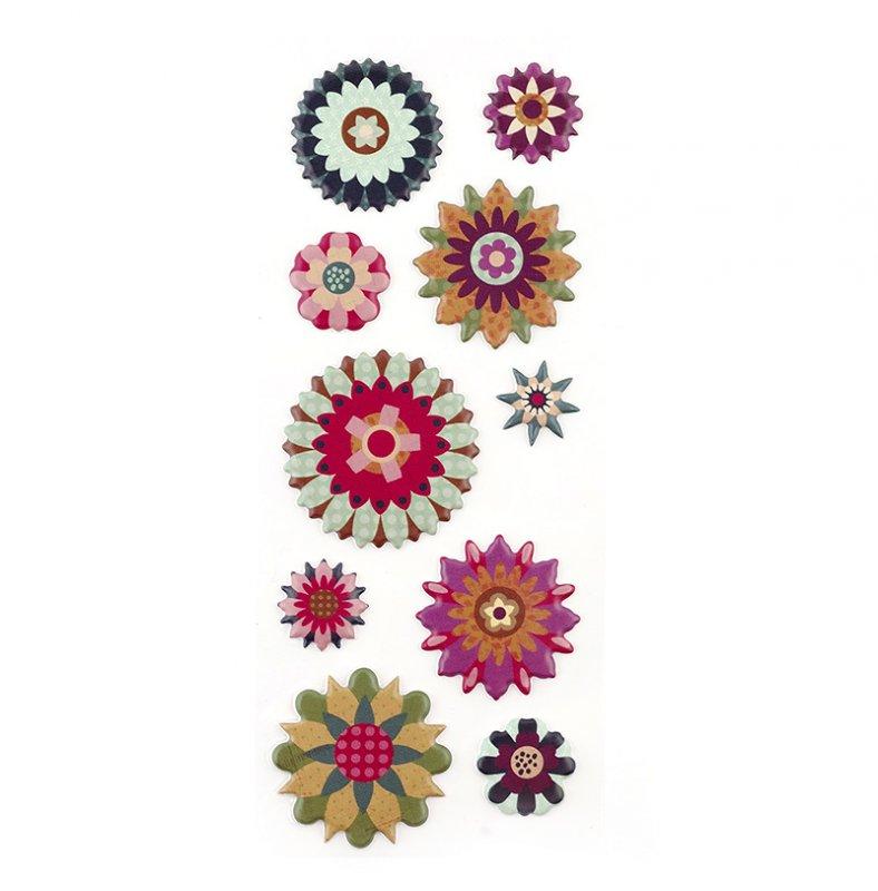 Стикеры Studio112 Объемные цветы, 10 штKCO-30-668386Стикеры Studio112 Объемные цветы прекрасно подойдут для оформления творческих работ. Их можно использовать для скрапбукинга, украшения упаковок, подарков и конвертов, открыток, декорирования коллажей, фотографий, изделий ручной работы и предметов интерьера. Объемные стикеры выполнены на плотной основе в виде цветов. Не содержат лигнин и кислоты. Задняя сторона клейкая. В наборе - 10 стикеров. Скрапбукинг - это хобби, которое способно приносить массу приятных эмоций не только человеку, который этим занимается, но и его близким, друзьям, родным. Это невероятно увлекательное занятие, которое поможет вам сохранить наиболее памятные и яркие моменты вашей жизни, а также интересно оформить интерьер дома. Комплектация: 10 шт. Средний диаметр стикера: 3 см.