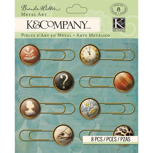 Скрепки-украшения K&Company, 8 штKCO-30-668911Скрепки-украшения K&Company изготовлены из металла и пластика и используются в скрапбукинге для украшения фотоальбомов, подарков, фоторамок, открыток, в декоре. С их помощью легко прикрепить к странице фотографию, заметки, билетики. Набор содержит 8 скрепок, украшенных разными цветными изображениями. Скрапбукинг - это хобби, которое способно приносить массу приятных эмоций не только человеку, который этим занимается, но и его близким, друзьям, родным. Это невероятно увлекательное занятие, которое поможет вам сохранить наиболее памятные и яркие моменты вашей жизни, а также интересно оформить интерьер дома.