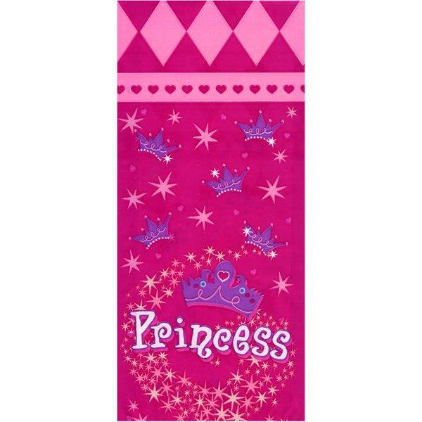 Набор пакетов для подарков Wilton Принцесса, 20 штWLT-1912-1300Набор Wilton Принцесса, изготовленный из полиэтилена, состоит из 20 подарочных пакетов, декорированных изображениями корон, звездочек и надписью Princess. С помощью этих пакетов, вы можете оригинально упаковать подарок, сладости или другие кондитерские изделия. К пакетикам прилагаются пластиковые крепежи для надежного закрытия. Подарок, преподнесенный в оригинальной упаковке, всегда будет самым эффектным и запоминающимся. Окружите близких людей вниманием и заботой, вручив презент в нарядном, праздничном оформлении.