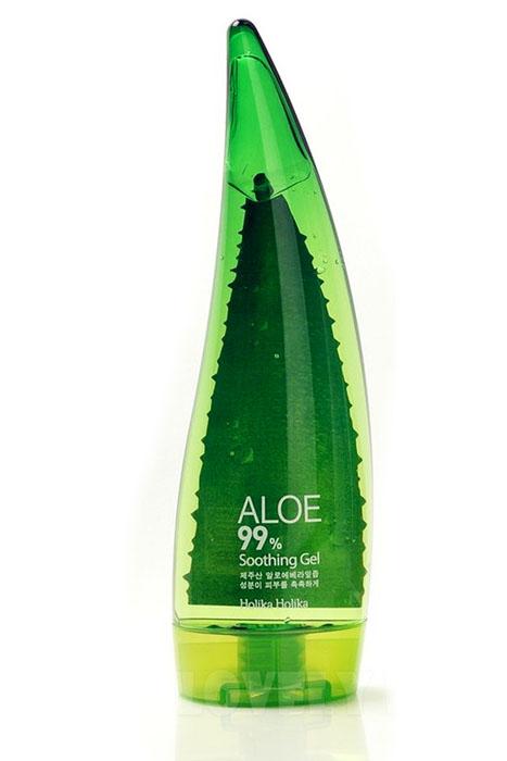Holika Holika Универсальный гель для лица Алоэ 99%, 250 млУТ000000871Универсальный гель с 99% содержанием экстракта сока алоэ вера интенсивно увлажняет кожу, помогает сохранить влагу, снимает воспаления и раздражения, убирает шелушения, обладает бактерицидным свойством. Сок алоэ используется для заживления ожогов и ранений, обладает смягчающими и солнцезащитными свойствами. Гель можно наносить на кожу лица, тело, волосы и даже область вокруг глаз. Можно использовать после бритья и после загара, сохраняя естественный липидный барьер.