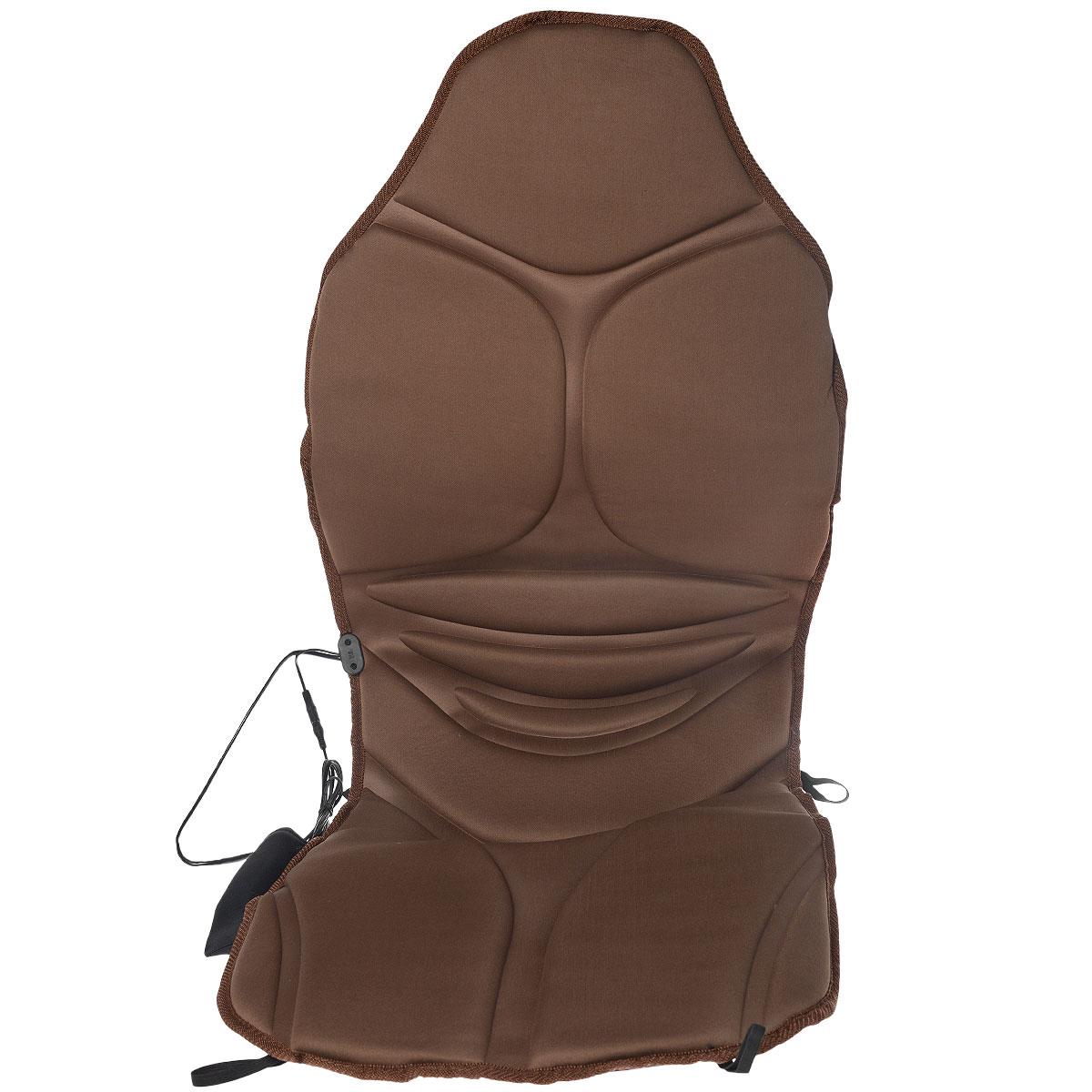Накидка массажная на сиденье Sapfire, с обогревом, 117 см х 49 смSCH-0450Накидка на сиденье Sapfire выполнена из полиэстера и предназначена для сиденья в автомобильное кресло. Если вы проводите длительное время за рулем, то массажная накидка вам просто необходима. Установите ее на кресло и подарите себе расслабляющий и оздоровительный массаж. Пульт позволяет задать скорость, интенсивность и вид массажа. Функция подогрева усиливает эффективность процедуры. Преимущества массажной накидки Sapfire: - 5 массажных точек (шея, левая часть спины, правая часть спины, левая нога, правая нога); - таймер на 15 минут, 30 минут и 60 минут; - режим циркулирующего массажа; - функция обогрева; - пульт управления с контролем интенсивности; - эргономичная форма сиденья; - упругий наполнитель удобно поддерживает тело. Напряжение: 12V DC. Энергопотребление моторов: 0,84W, 70ma - один мотор. Нагревательный элемент: 3,6W, 300ma. Термостат: 65±5°C. Размер накидки: 117 см х 49 см. Уважаемые...