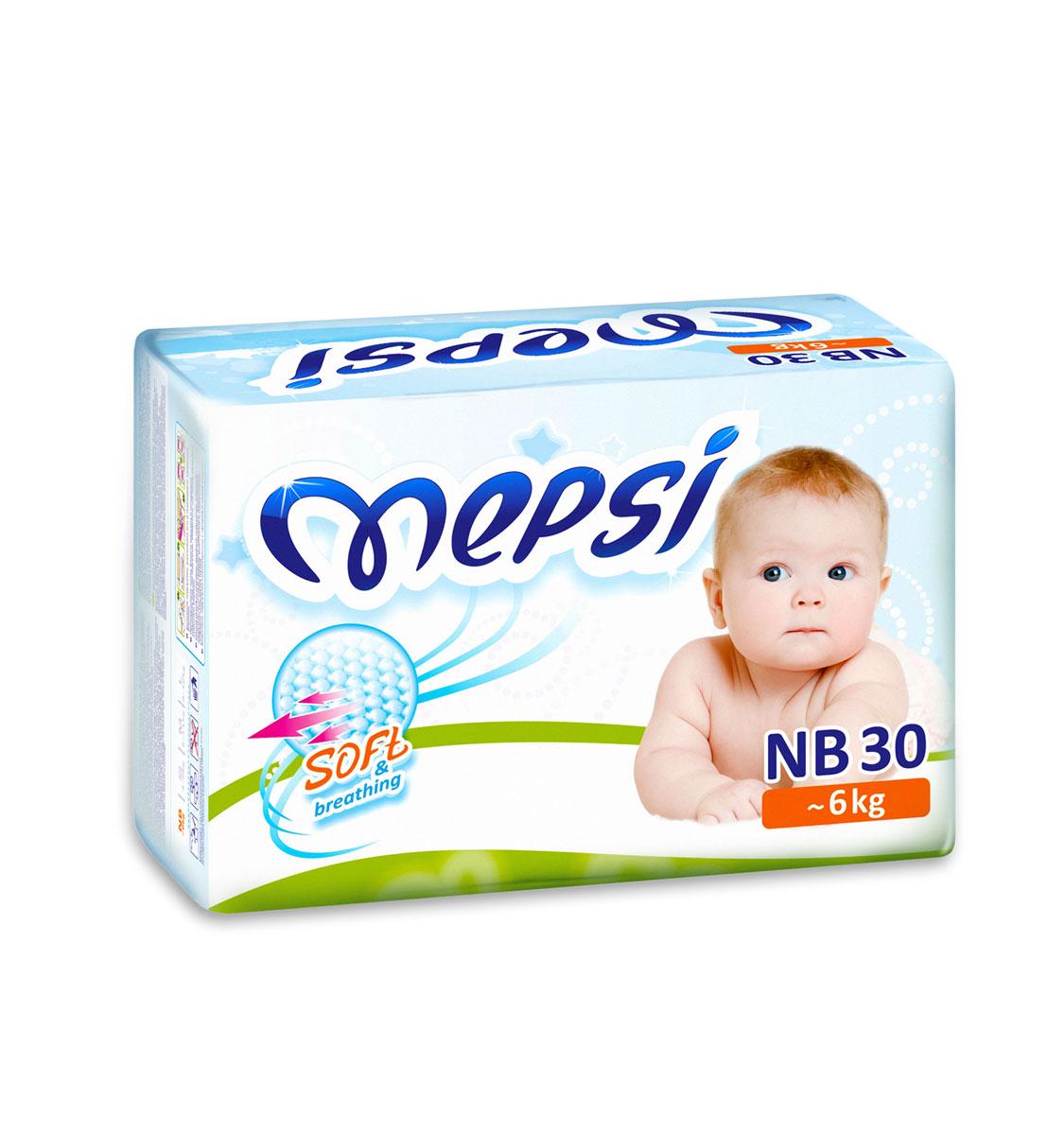 Mepsi Подгузники NB, до 6кг, 30 шт0018