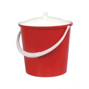 Ведро Альтернатива Крепыш, с крышкой, цвет: красный, белый, 5 лК341Ведро Альтернатива Крепыш изготовлено из высококачественного цветного пластика. Оно легче железного и не подвергается коррозии. Ведро оснащено ручкой для удобной переноски и крышкой. Такое ведро станет незаменимым помощником в хозяйстве. Диаметр (по верхнему краю): 22 см. Высота (без учета крышки): 20,5 см.