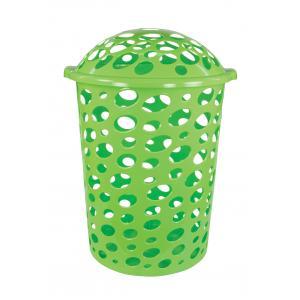 Корзина для белья Соренто, цвет: зеленый, 45 лМ1707Корзина для белья Соренто изготовлена из прочного пластика. Корзина устойчива к перепадам температур и влажности, поэтому идеально подходит для ванной комнаты. Изделие оснащено двумя боковыми ручками и крышкой. Можно использовать для хранения белья, детских игрушек, домашней обуви и прочих бытовых вещей. Элегантный дизайн подойдет к интерьеру любой ванной.