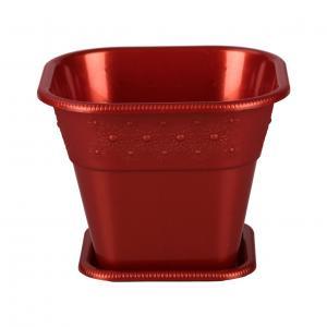 Горшок-кашпо Альтернатива София, с поддоном, цвет: медный, 1,5 лМ3380Горшок-кашпо для цветов Альтернатива София выполнен из прочного пластика и оснащен поддоном. Изделие предназначено для установки внутрь цветочных горшков с растениями. Такие изделия часто становятся последним штрихом, который совершенно изменяет интерьер помещения или ландшафтный дизайн сада. Благодаря такому горшку-кашпо вы сможете украсить вашу комнату, офис, сад и другие места. Объем: 1,5 л. Размер: 16 х 16 х 12,5 см.