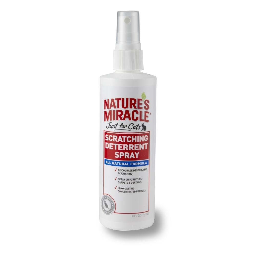 Отпугивающий спрей против царапанья 8 in 1 Natures Miracle, для кошек, 236 мл5057785Спрей 8 in 1 Natures Miracle - эффективное средство, отучающее от привычки царапать вещи. Спрей нейтрализует запах секрета подушечек кошек, который выделяется при царапанье, и тем самым отбивает желание повторять заточку когтей. Кроме того, средство содержит натуральные репелленты, запах которых не нравится кошкам, и они перестают царапать обработанный предмет. Применение: Перед применением хорошо встряхнуть. Распылите средство на поверхность или предмет, о который кошка точит когти. При необходимости повторить. Внимание! Не распылять непосредственно на животное. Состав: натрия лаурилсульфат - 0,3%, масло корицы - 0,12%, масло лимонной травы - 0,12%, масло лемонграсса - 0,12%, вода, бензоат натрия. Товар сертифицирован.