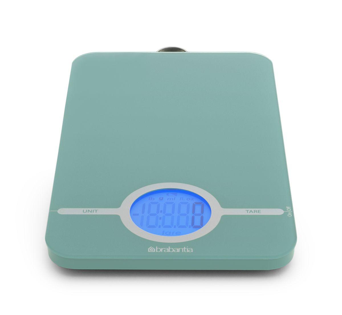 """Весы кухонные электронные """"Brabantia"""", цвет: мятный, до 5 кг. 480720"""