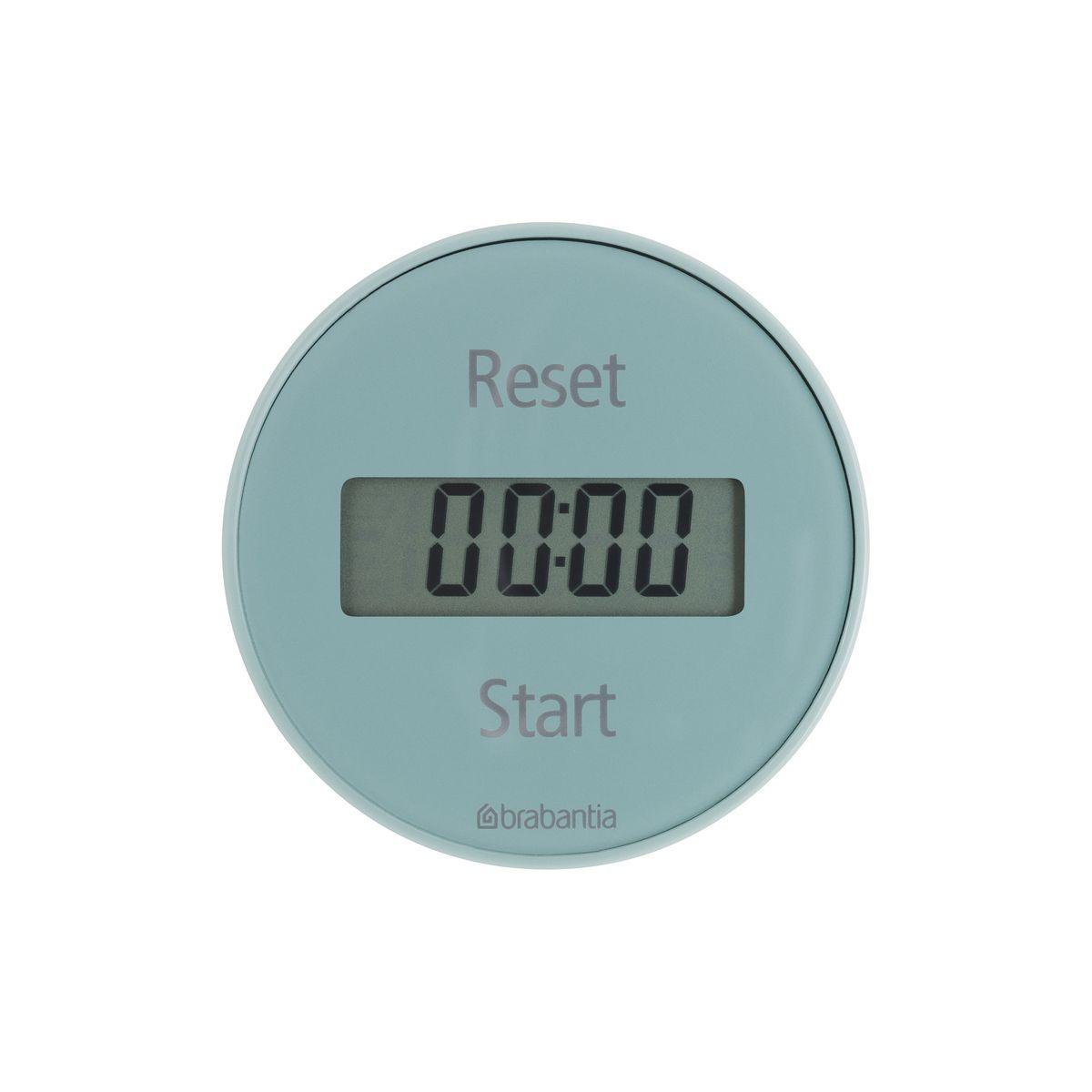 Таймер кухонный Brabantia, цвет: голубой, 99 минут103728Кухонный таймер Brabantia - незаменимый аксессуар для приготовления блюд. Корпус выполнен из высокопрочного пластика ярких цветов. Таймер имеет прямой и обратный отсчет в диапазоне до 99 минут. Установить время очень легко: просто поверните внешнее кольцо прибора и установите время, необходимое для приготовления вашего любимого блюда. Звуковой сигнал известит вас о готовности. Стильный дизайн и качество исполнения сделают таймер Brabantia ярким акцентом в интерьере вашей кухни. Таймер удобно и легко крепится при помощи магнита. Работает от одной батарейки типа CR2032 (входит в комплект). Диаметр корпуса: 7,5 см. Толщина корпуса: 2,2 см.