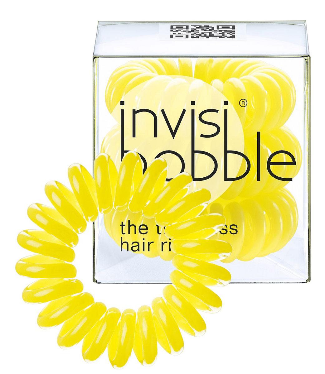 Invisibobble Резинка-браслет для волос Submarine Yellow, 3 шт3005Столь необычная форма браслетов-резинок Invisibobble дает множество преимуществ. Резинка не оставляет заломов на волосах. При длительном ношении, например целый день, снимая резинку вы не почувствуете усталость волос. Оригинально смотрится на волосах. Отлично сохраняет свою форму и надежно фиксирует прическу. Не мокнет. Не травмируют волосы, в отличии от обычных резинок, нет трения, зажимов отдельных волосков или прядей. Подходят как для любого типа волос, так и не имеют ограничений по возрасту. Вам понравятся яркие цвета, а так же их можно использовать как стильные браслеты. Товар сертифицирован.