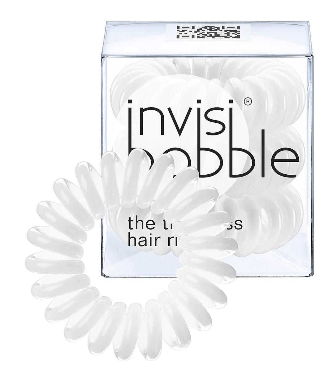 Invisibobble Резинка-браслет для волос Innocent White, 3 шт3002Столь необычная форма браслетов-резинок Invisibobble дает множество преимуществ. Резинка не оставляет заломов на волосах. При длительном ношении, например целый день, снимая резинку вы не почувствуете усталость волос. Оригинально смотрится на волосах. Отлично сохраняет свою форму и надежно фиксирует прическу. Не мокнет. Не травмируют волосы, в отличии от обычных резинок, нет трения, зажимов отдельных волосков или прядей. Подходят как для любого типа волос, так и не имеют ограничений по возрасту. Вам понравятся яркие цвета, а так же их можно использовать как стильные браслеты. Товар сертифицирован.