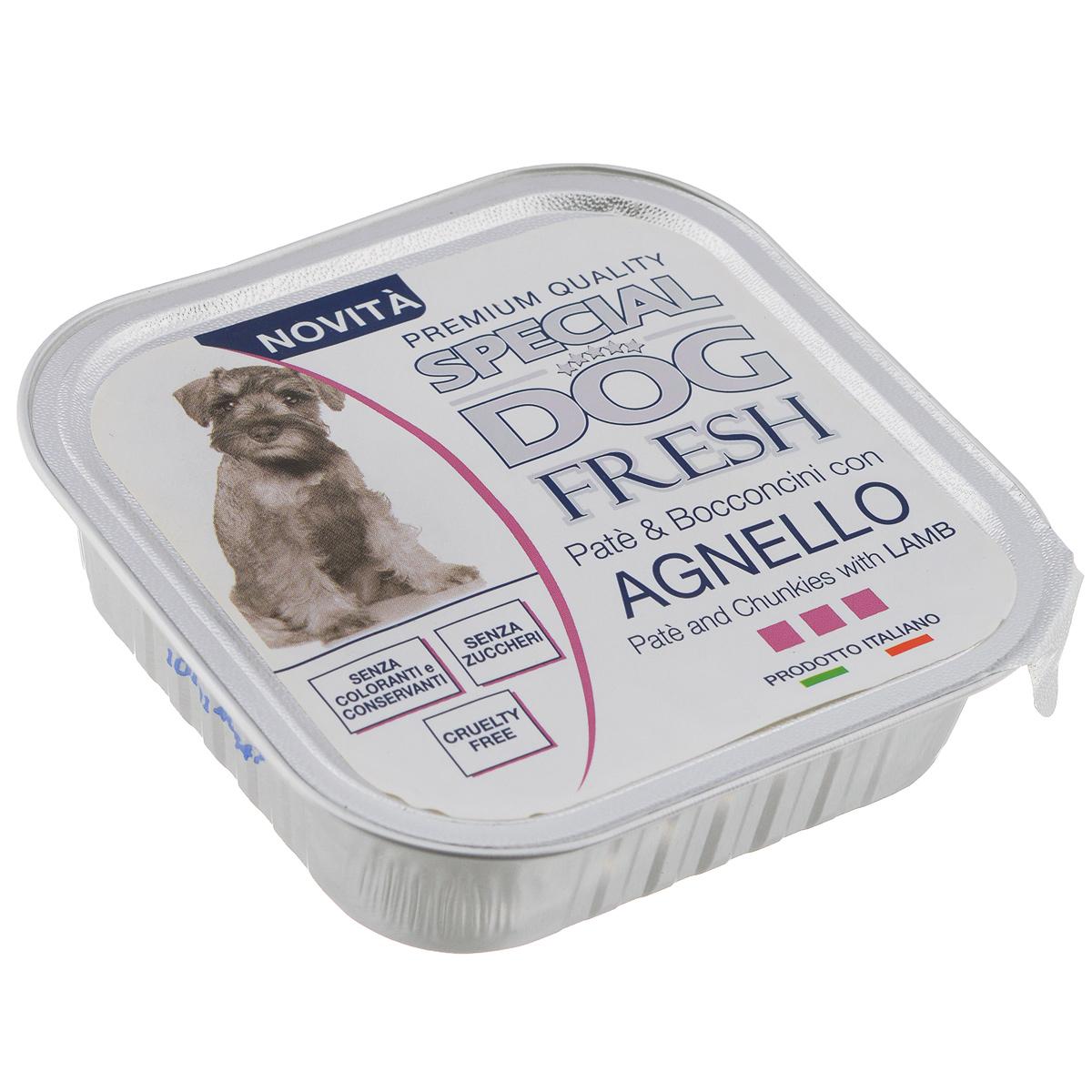 Консервы для собак Monge Special Dog Fresh, с ягненком, 150 г70008648Консервы для собак Monge Special Dog Fresh - это полноценный сбалансированный корм для собак. Паштет из мяса ягненка. Состав: свежее мясо 80% (мин. 10% мяса ягненка), минеральные вещества, витамины. Технологические добавки: загустители и желирующие вещества. В данном продукте нет клейковины. Анализ компонентов: протеин 9%, жир 7%, сырая клетчатка 0,5%, сырая зола 1,2%, влажность 82%. Витамины и добавки на 1 кг: витамин А 2500 МЕ, витамин D3 300 МЕ, витамин Е 7 мг. Товар сертифицирован.