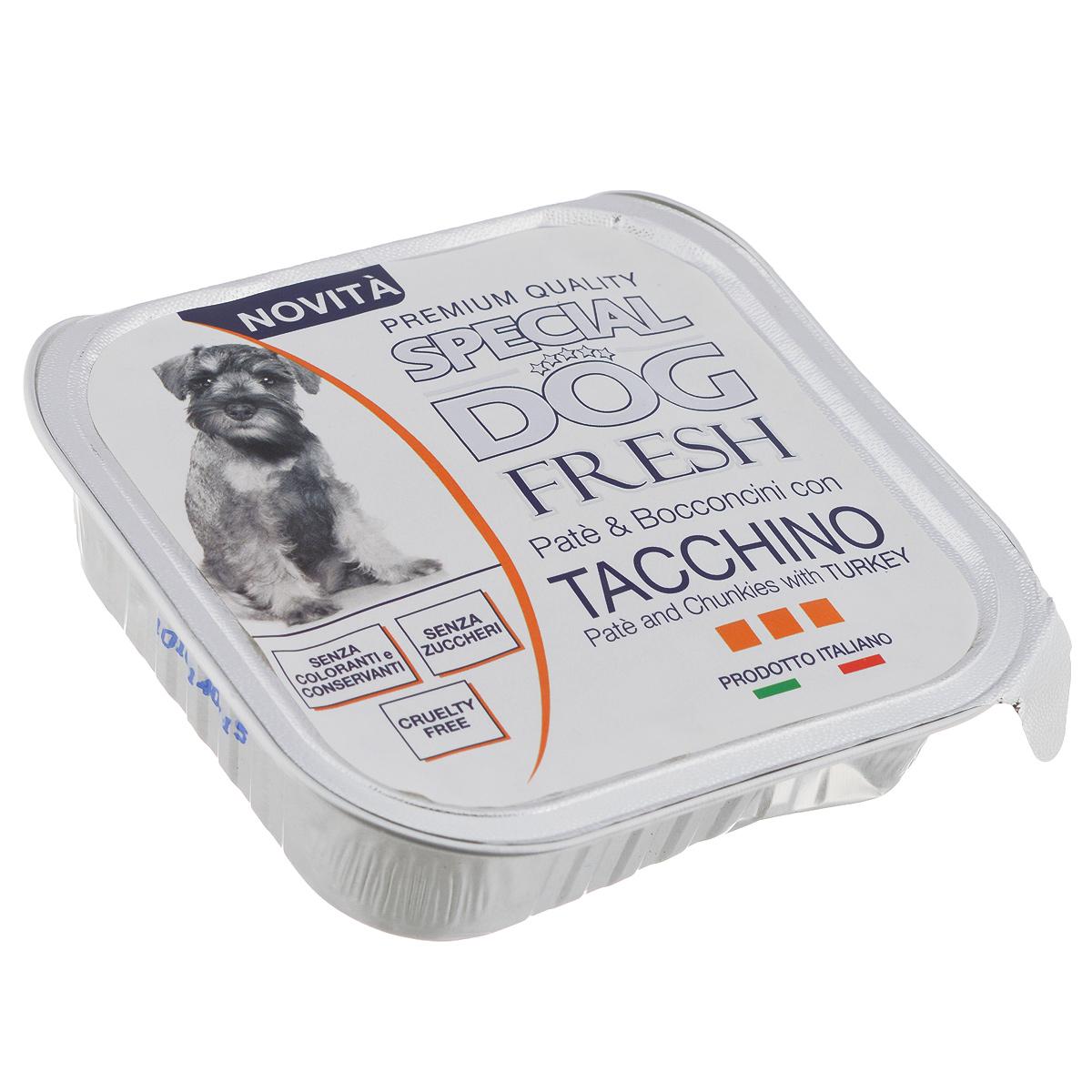 Консервы для собак Monge Special Dog Fresh, с индейкой, 150 г70008655Консервы для собак Monge Special Dog Fresh - это полноценный сбалансированный корм для собак. Паштет из индейки. Состав: свежее мясо 80% (мин. 10% мяса индейки), минеральные вещества, витамины. Технологические добавки: загустители и желирующие вещества. В данном продукте нет клейковины. Анализ компонентов: протеин 9%, жир 7%, сырая клетчатка 0,5%, сырая зола 1,2%, влажность 82%. Витамины и добавки на 1 кг: витамин А 2500 МЕ, витамин D3 300 МЕ, витамин Е 7 мг. Товар сертифицирован.