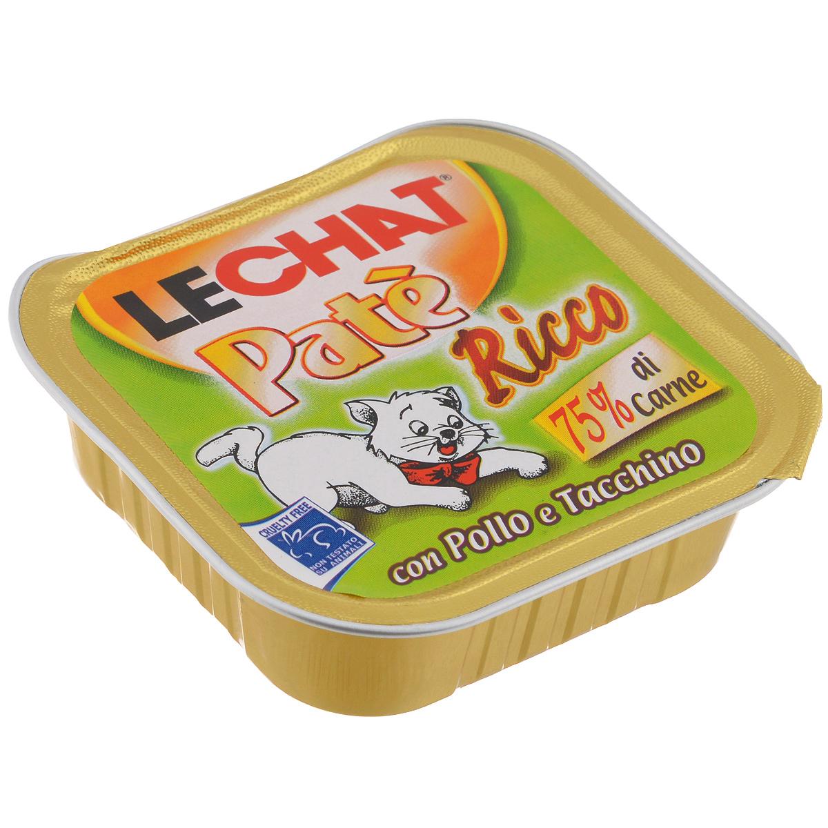 """Консервы для кошек Monge """"Lechat"""", с курицей и индейкой, 100 г"""