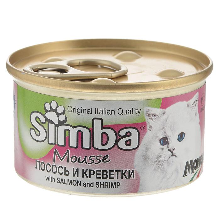 Консервы для кошек Monge Simba, мусс с лососем и креветками, 85 г70009430Консервы для кошек Monge Simba - это полноценный сбалансированный корм для кошек. Мусс с лососем и креветками. Ежедневная норма для кошки среднего размера (3-4 кг) - 400 г. Порцию можно разделить на несколько приемов. Состав: рыба и рыбные субпродукты (лосось 7%, креветки 7%), мясо и мясные субпродукты, злаки, минеральные вещества. Анализ компонентов: сырой белок 11%, сырой жир 2,5%, сырая клетчатка 0,5%, сырая зола 2%, влажность 78%. Витамины и добавки на 1 кг: витамин D3 250 МЕ, витамин Е 5 мг, загустители, желирующие вещества. Товар сертифицирован.