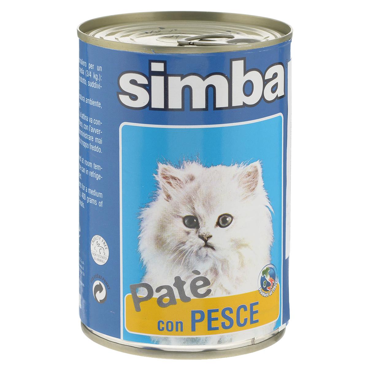 Консервы для кошек Monge Simba, паштет с рыбой, 400 г70009768Консервы для кошек Monge Simba - это полноценный сбалансированный корм для кошек. Паштет с рыбой. Ежедневная норма для кошки среднего размера (3-4 кг) - 400 г. Порцию можно разделить на несколько приемов. Состав: мясо и мясные субпродукты, рыба и рыбные субпродукты (тунец 6%), минеральные вещества, витамины, технологические добавки-загустители, желирующие вещества. Анализ компонентов: белок 8%, сырой жир 7,5%, сырая клетчатка 0,4%, сырая зола 2,1%, влажность 81%. Витамины и добавки на 1 кг: витамин А 1200 МЕ, витамин D3 160 МЕ, витамин Е 5 мг. Товар сертифицирован.