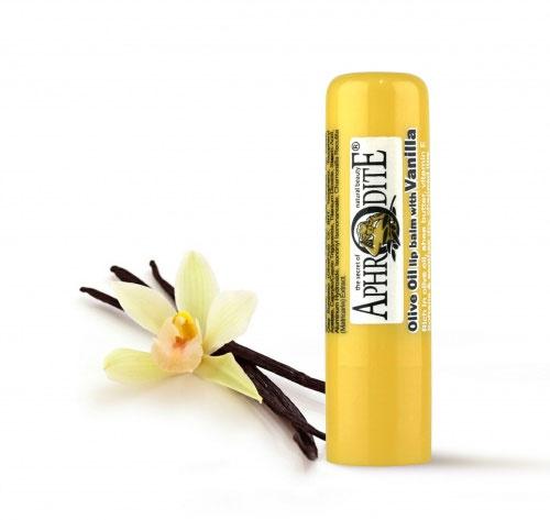 Aphrodite Гигиеническая губная помада с ванилью, 4 гZ-46Сохраняет губы красивыми, свежими и здоровыми. С теплым ароматом ванили. Не содержит парабен, Не содержит глицерин. SPF 10