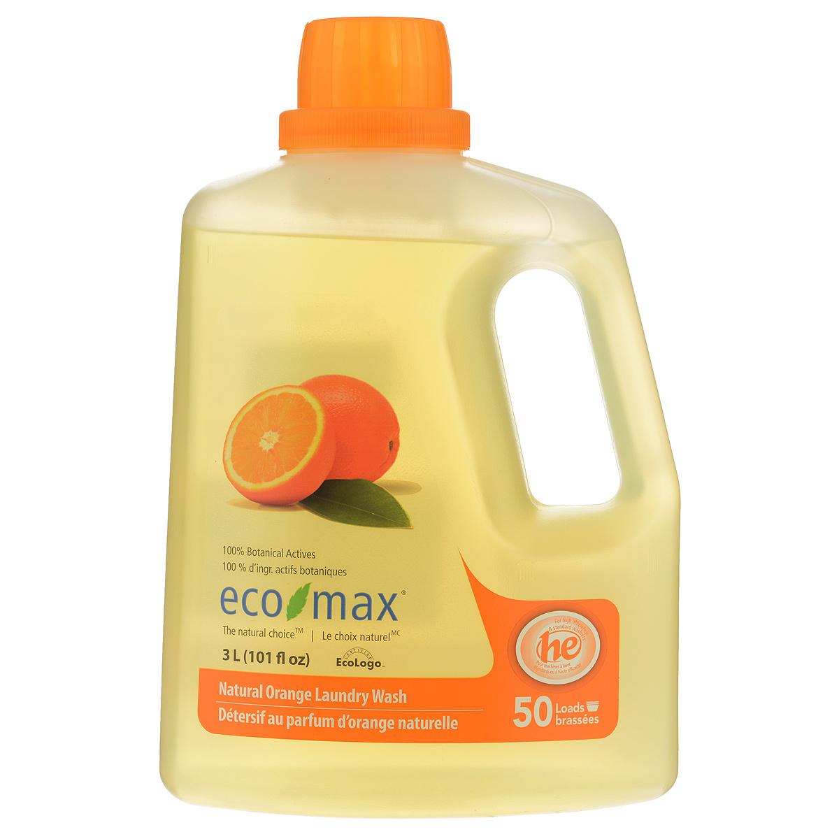 Жидкое средство для стирки Eco Max Апельсин, 3 лEmax-C117Жидкое средство для стирки Eco Max Апельсин - полностью натуральное, на растительной основе средство для стирки с освежающим ароматом апельсина. Благодаря низкому пенообразованию и отсутствию осадка безопасно для использования в стиральной машине. Нетоксично, без осадка, безопасно для детской одежды. В этом средстве используются активные чистящие вещества ингредиентов, полученных из биоразлагаемых и возобновляемых растительных источников. Подходит для ручной и машинной стирки, для всех типов ткани. Одного флакона хватает на 50 стирок. Состав: вода, ПАВ растительного происхождения, пищевая лимонная кислота, пищевой цитрат натрия, пищевой загуститель на основе целлюлозы и пищевой сорбат калия в качестве консерванта, натуральное эфирное апельсиновое масло. Товар сертифицирован.