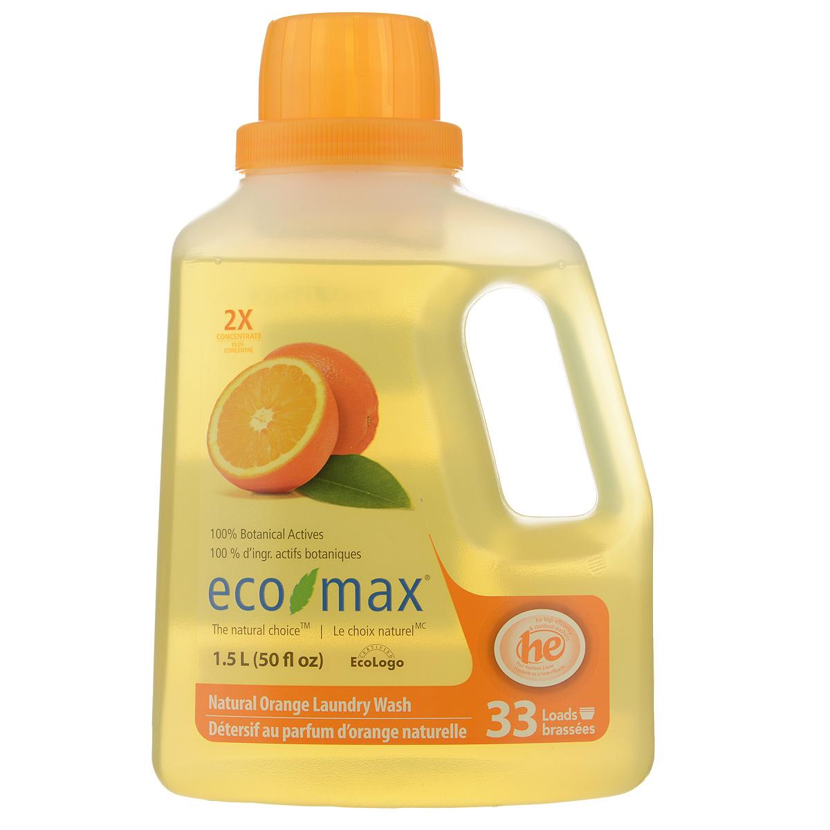 Жидкое средство для стирки Eco Max Апельсин, концентрированное, 1,5 лEmax-C130Жидкое средство для стирки Eco Max Апельсин - полностью натуральное, на растительной основе средство для стирки с освежающим апельсиновым ароматом. Благодаря низкому пенообразованию и отсутствию осадка безопасно для использования в стиральной машине. Нетоксично, без осадка, безопасно для детской одежды. В этом средстве используются активные чистящие вещества ингредиентов, полученных из биоразлагаемых и возобновляемых растительных источников. Экономично: одного флакона хватает на 50 стирок. Подходит для ручной и машинной стирки, для всех типов ткани. Состав: вода, растительные алкилполигликозиды (из кокосового масла и кукурузного сиропа), пищевая лимонная кислота, пищевой цитрат натрия, пищевой загуститель на основе целлюлозы и пищевой сорбат калия в качестве консерванта, натуральное эфирное масло апельсина. Товар сертифицирован.