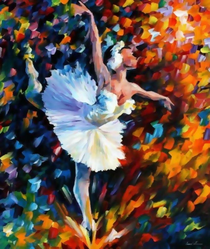 Живопись на цветном холсте Танец души, 40 см х 50 см. 870-AB-C870-AB-C Танец душиЖивопись на холсте Танец души - это набор для раскрашивания по номерам красками на холсте. Каждая краска имеет свой номер, соответствующий номеру на картинке. Нужно только аккуратно нанести необходимую краску на отмеченный для нее участок. Таким образом, шаг за шагом у вас получится великолепная картина. С помощью такого набора вы можете стать настоящим художником и создателем прекрасных картин. Вы получите истинное удовольствие от погружения в процесс творчества, и созданные своими руками картины украсят интерьер вашего дома или станут прекрасным подарком. Техника раскрашивания на холсте по номерам дает возможность легко рисовать даже сложные сюжеты. Прекрасно развивает художественный вкус, аккуратность и внимание. В набор входят: - профессиональный прогрунтованный холст из 100% хлопка с нанесенным цветным рисунком, натянутый на деревянный подрамник, - специально разработанные нетоксичные, экологичные, безопасные, устойчивые к выцветанию краски (29...