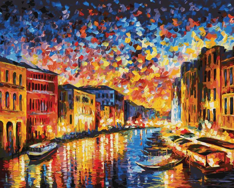 Живопись на цветном холсте Гранд-Канал Венеция, 40 х 50 см871-AB-CЖивопись на холсте Гранд-Канал Венеция - это набор для раскрашивания по номерам красками на холсте. Каждая краска имеет свой номер, соответствующий номеру на картинке. Нужно только аккуратно нанести необходимую краску на отмеченный для нее участок. Таким образом, шаг за шагом у вас получится великолепная картина. С помощью такого набора вы можете стать настоящим художником и создателем прекрасных картин. Вы получите истинное удовольствие от погружения в процесс творчества, и созданные своими руками картины украсят интерьер вашего дома или станут прекрасным подарком. Техника раскрашивания на холсте по номерам дает возможность легко рисовать даже сложные сюжеты. Прекрасно развивает художественный вкус, аккуратность и внимание. В набор входят: - профессиональный прогрунтованный холст из 100% хлопка с нанесенным цветным рисунком, натянутый на деревянный подрамник, - специально разработанные нетоксичные, экологичные, безопасные, устойчивые к выцветанию...