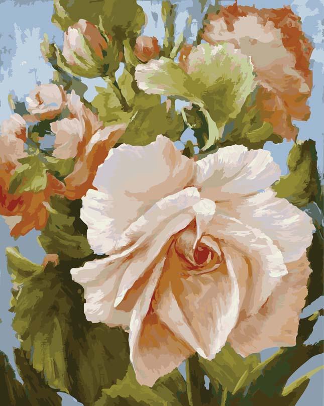 Живопись на цветном холсте Роза, 40 х 50 см889-АВ-CЖивопись на холсте Роза - это набор для раскрашивания по номерам красками на холсте. Каждая краска имеет свой номер, соответствующий номеру на картинке. Нужно только аккуратно нанести необходимую краску на отмеченный для нее участок. Таким образом, шаг за шагом у вас получится великолепная картина. С помощью такого набора вы можете стать настоящим художником и создателем прекрасных картин. Вы получите истинное удовольствие от погружения в процесс творчества, и созданные своими руками картины украсят интерьер вашего дома или станут прекрасным подарком. Техника раскрашивания на холсте по номерам дает возможность легко рисовать даже сложные сюжеты. Прекрасно развивает художественный вкус, аккуратность и внимание. В набор входят: - профессиональный прогрунтованный холст из 100% хлопка с нанесенным цветным рисунком, натянутый на деревянный подрамник, - специально разработанные нетоксичные, экологичные, безопасные, устойчивые к выцветанию краски (35...