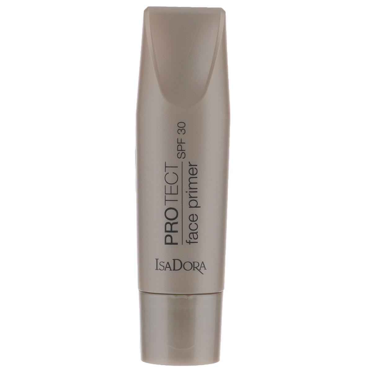 Isa Dora База под макияж ProTect Face Primer, SPF 30, 30 мл214403Идеальная база для устойчивого безупречного макияжа. Эффективная защита от солнечных лучей (SPF 30, спектр UVA и UVB). Уникальные коллагеновые пептиды – сокращают морщины, придают коже упругость. Гелевая текстура без содержания масел – ультралегкая, без ощущения силиконовой пленки. Для всех типов кожи – включая жирную и комбинированную. Товар сертифицирован.