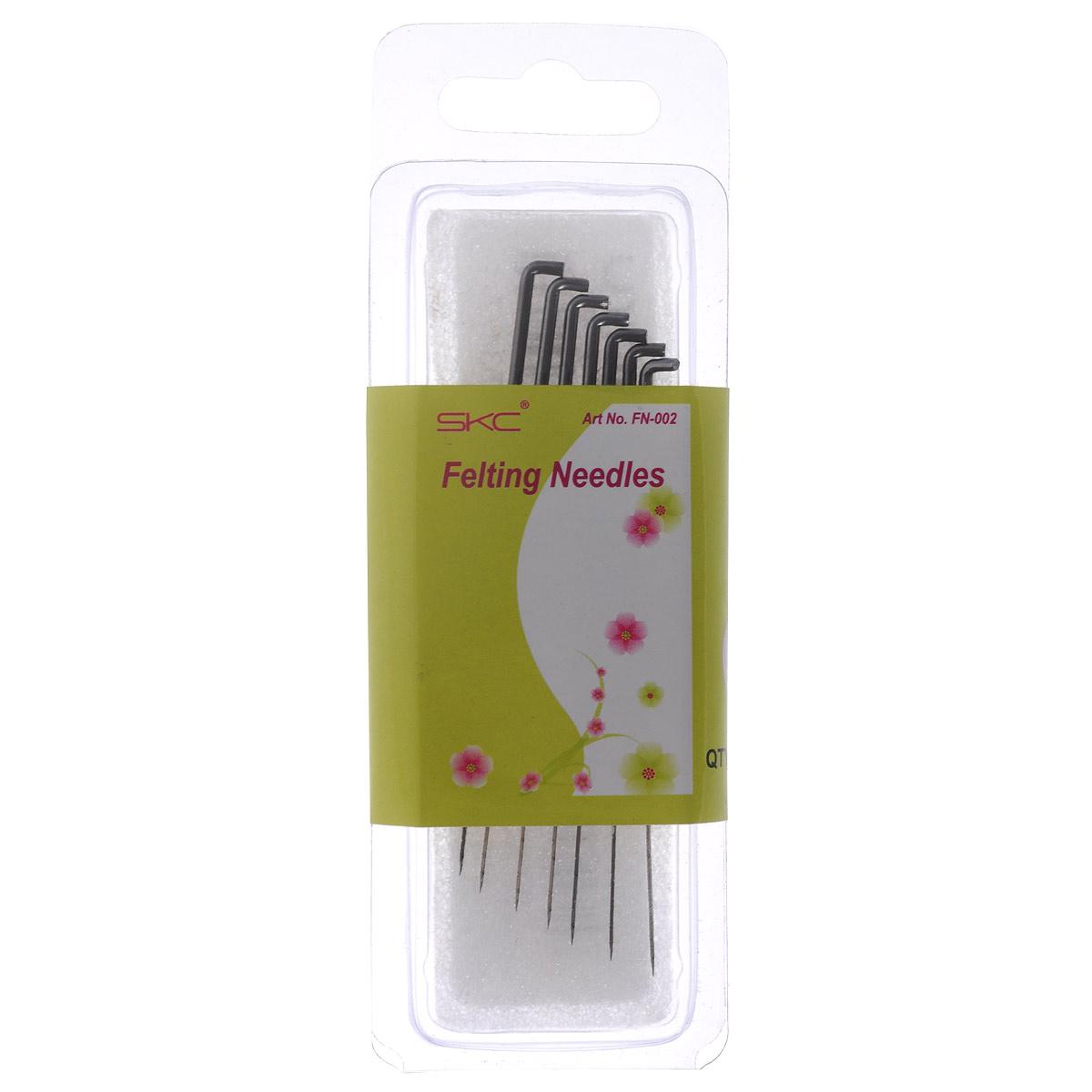 Набор сменных игл для фелтинга SKC, №40, 7 шт677245Набор сменных игл для фелтинга SKC выполнены из высококачественной стали. Эти иглы цепляются за волокна шерсти и проталкивают их внутрь ткани. Волокна шерсти прочно закрепляются естественным образом, позволяя обойтись без клея и швов. Иглы имеют насечки, которые позволяют перепутывать и уплотнять волокна шерсти, чем и достигается эффект валяния.