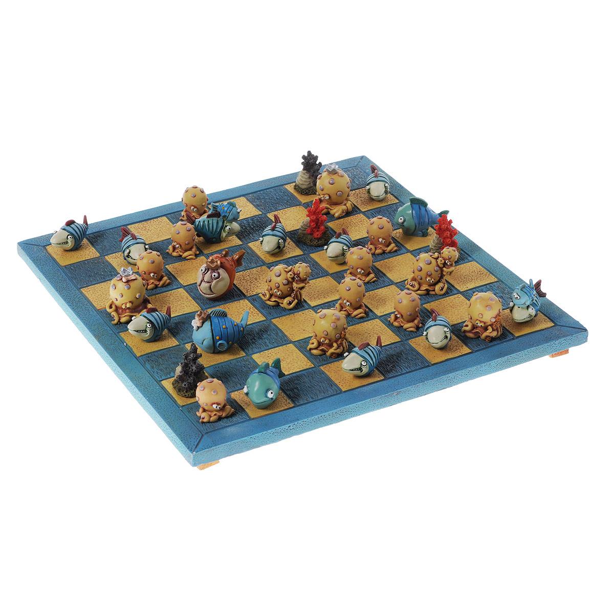 Шахматы Lillo Акулы и осьминоги95394Шахматы Lillo Акулы и осьминоги - это занимательный подарок и украшение интерьера. Шахматы представляют собой игровое поле с фигурками в виде забавных акул, рыбок и осьминогов. Предметы набора выполнены из полистоуна. Шахматы - одна из древнейших игр, изобретенная в Индии три тысячи лет назад. Она позволяла разыгрывать сражения того времени, в которых принимали участие, как простые пешие воины, так и кавалерия, и боевые слоны.
