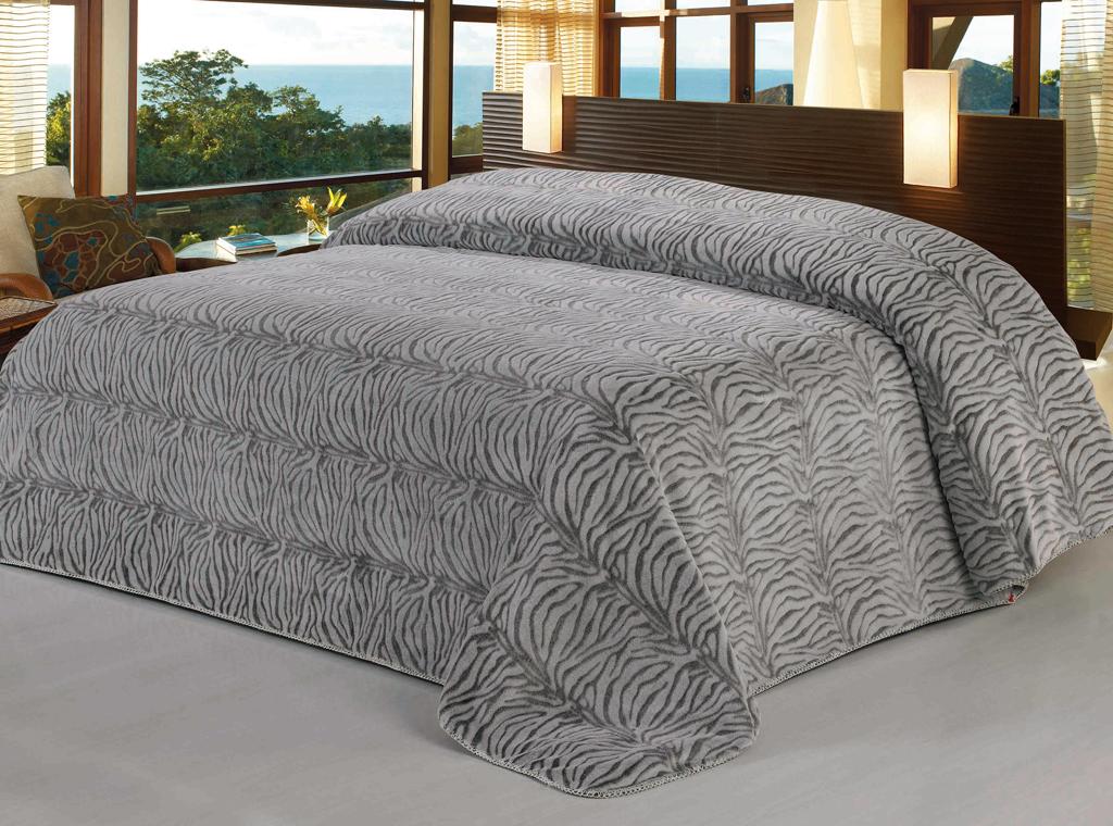 "Soft Line Плед ""SL"", цвет: серый, 200 см х 220 см. 09512"