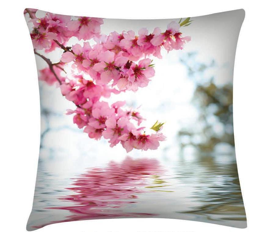 Подушка декоративная Garden Цветы у воды, 45 х 45 смП w1822 v319Декоративная подушка Garden Цветы у воды - это яркое украшение вашего дома. Чехол выполнен из приятного на ощупь полиэстера. Чехол закрывается на молнию, поэтому подушку легко стирать. Внутри - мягкий наполнитель. Лицевая сторона подушки украшена красочным цветочным рисунком, задняя сторона - однотонного цвета. Стильная и яркая подушка эффектно украсит интерьер и добавит в привычную обстановку изысканность и роскошь.