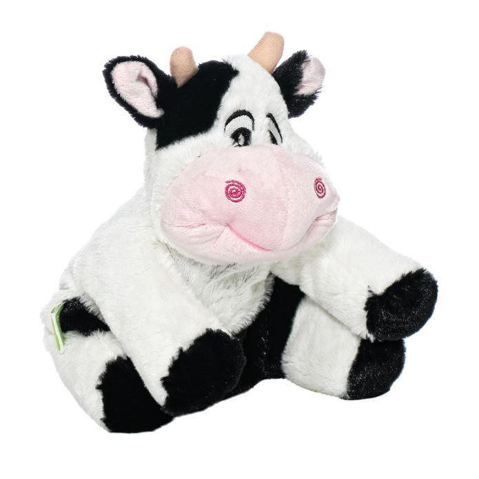 Мягкая игрушка-грелка Корова, 30 смWA028Игрушка-грелка Корова. Ее можно стирать, она выполнена из мягкого и прочного гипоаллергенного материала. Игрушка яркая, обязательно понравится вашему ребенку. Игра с ней будет полезна, так как внутри находятся гранулы лаванды, которые успокаивают и повышают сопротивляемость простудным заболеваниям, и гречихи, которые долго сохраняют тепло. Для превращения игрушки в грелку достаточно вставить в нее разогретый в СВЧ-печи вкладыш.