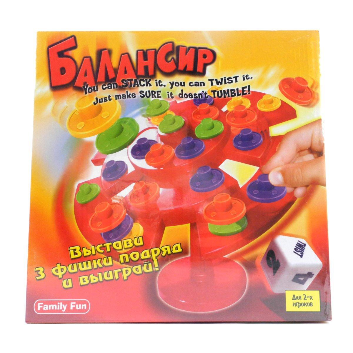 Настольная игра БалансирNST0002Настольная игра Балансир - это увлекательная и захватывающая игра для детей и взрослых, не требующая специальных условий! Цель игры - закатить шарик в нужные лунки, перемещая при этом диски по краю игровой доски. Секрет Балансира в хорошо продуманной инженерной конструкции игровой доски, которая чувствительна к любому давлению: на обратной стороне есть выпуклость, которая и заставляет доску раскачиваться. Доска никогда не перестает двигаться; шарик катается, усложняя задачу игроков. Передвигая специальные фишки-грузики по игровому полю и смещая его равновесие, попробуйте загнать шарик в цветную лунку. Выигрывает тот, кто первым загонит шарик в 4 лунки подряд. Только не забудьте, что последовательность цветов имеет значение. Игра станет не только любимым семейным развлечением, но и разнообразит встречу друзей на любой вечеринке. А может стоить как-нибудь организовать турнир по балансировке?