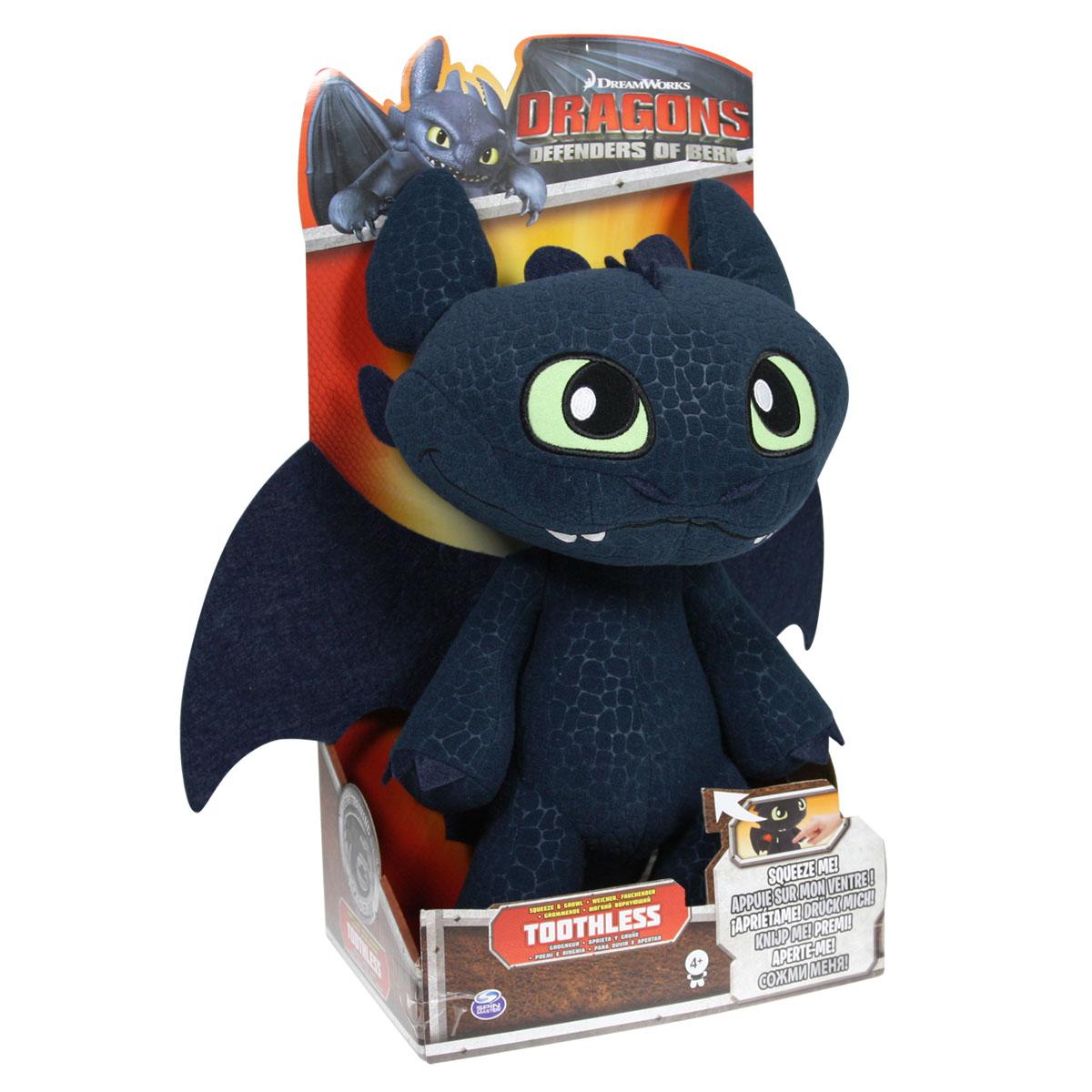 Мягкая игрушка Dragons Беззубик, озвученная, 33 см66556Мягкая озвученная игрушка Dragons Беззубик вызовет улыбку у каждого, кто ее увидит. Она выполнена из приятного на ощупь текстильного материала в виде дракона из мультфильма Как приручить дракона. При каждом нажатии на живот, игрушка воспроизводит 4 вида забавных звуков. Эта забавная игрушка принесет радость и подарит своему обладателю мгновения приятных воспоминаний. Такая игрушка станет отличным подарком вашему ребенку! Игрушка работает от 3-х батареек типа AG13/LR44 1.5V (входят в комплект).