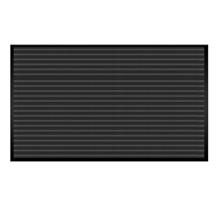 Коврик влаговпитывающий Vortex, ребристый, цвет: черный, 120 х 150 см