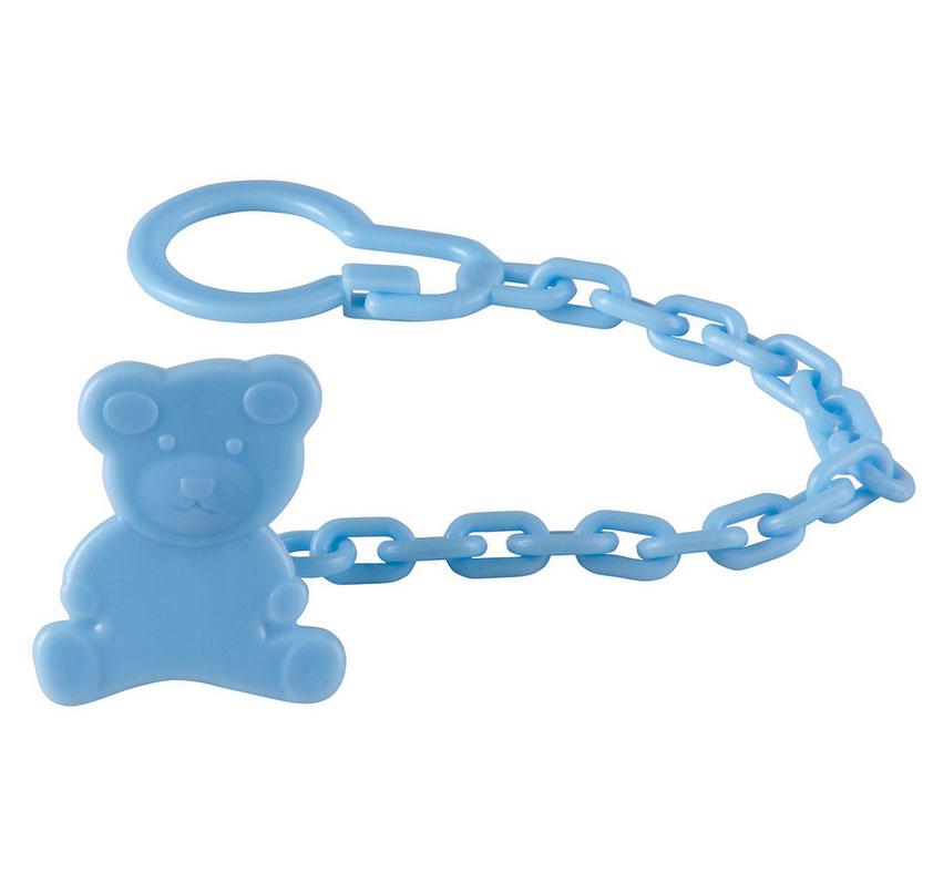 Клипса-держатель для пустышки Happy Baby Umka, цвет: голубой